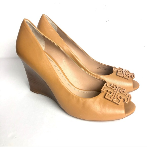 e01328c716cf4 Tory Burch- Lowell Peep toe wedge heel shoes